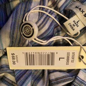Max Studio Tops - Max Studio Tie Front Shirt NWT